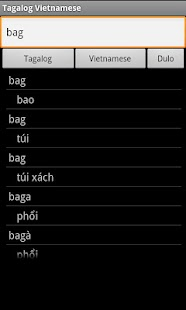 Vietnamese Tagalog Dictionary - screenshot thumbnail