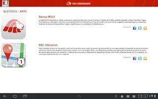 Screenshot of BAC Ubicanos