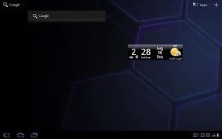 Screenshot of Smoked Glass Weather Clock