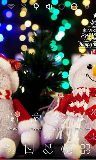 해피 크리스마스 스마일 런처플래닛 테마