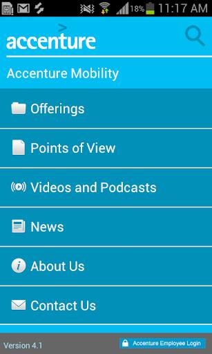 Accenture Mobility App