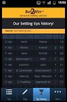 Screenshot of Bet 2 Win - Betting Tips
