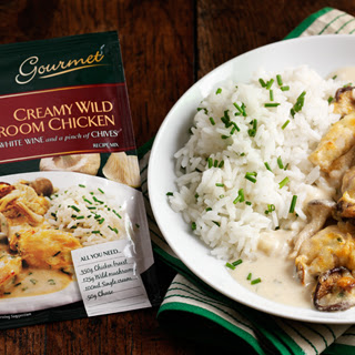 Creamy Wild Mushroom Chicken with White Wine and a pinch of Chives