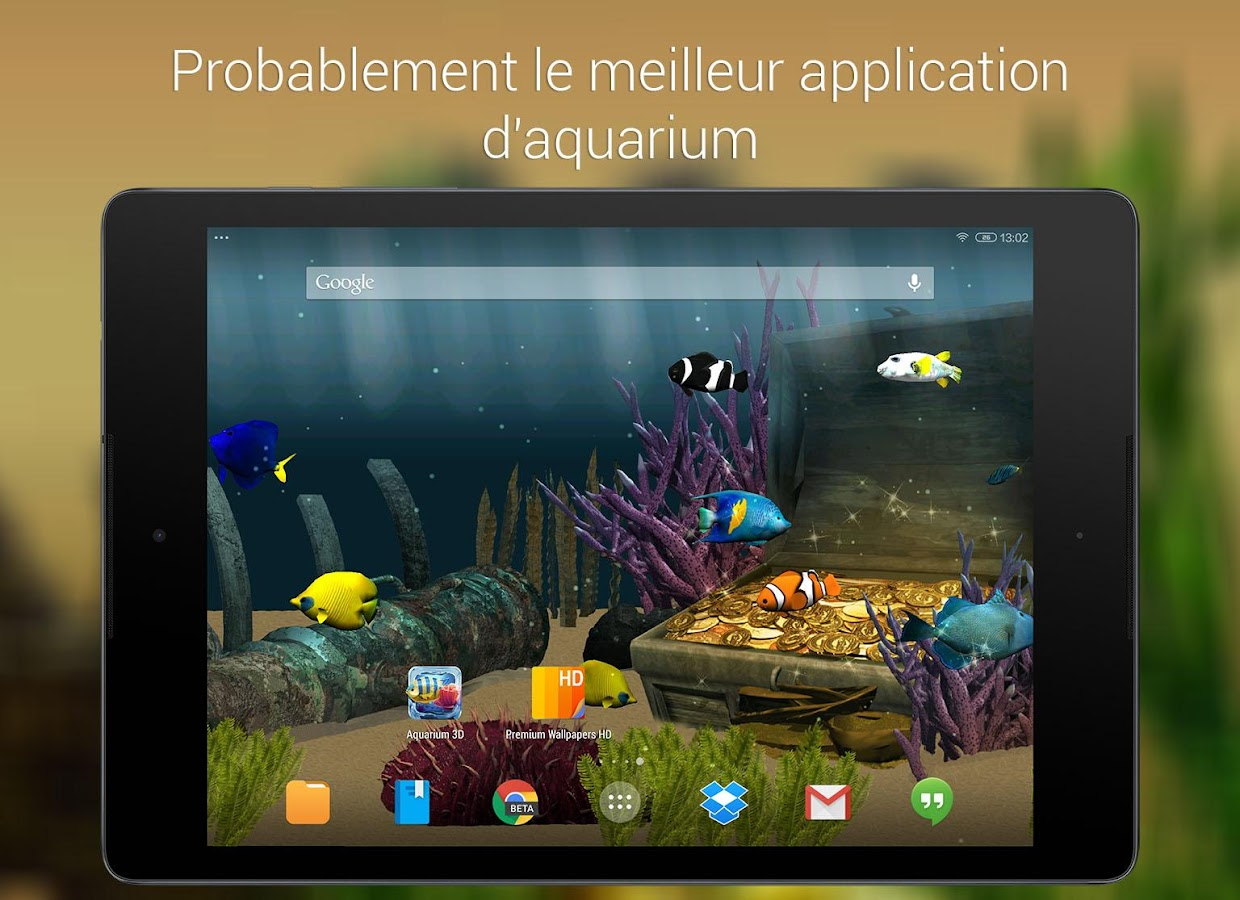 aquarium fond d 233 cran anim 233 applications android sur