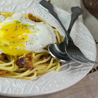 Bacon and Eggs Spaghetti.