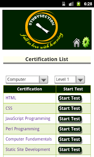 Study Section Certifications