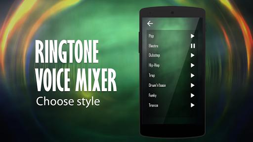Ringtone voice name mixer