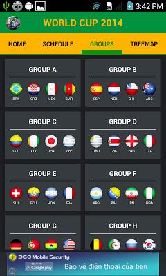World Cup Tracker 2014 - screenshot