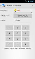 Screenshot of Relevés De Compteurs Free