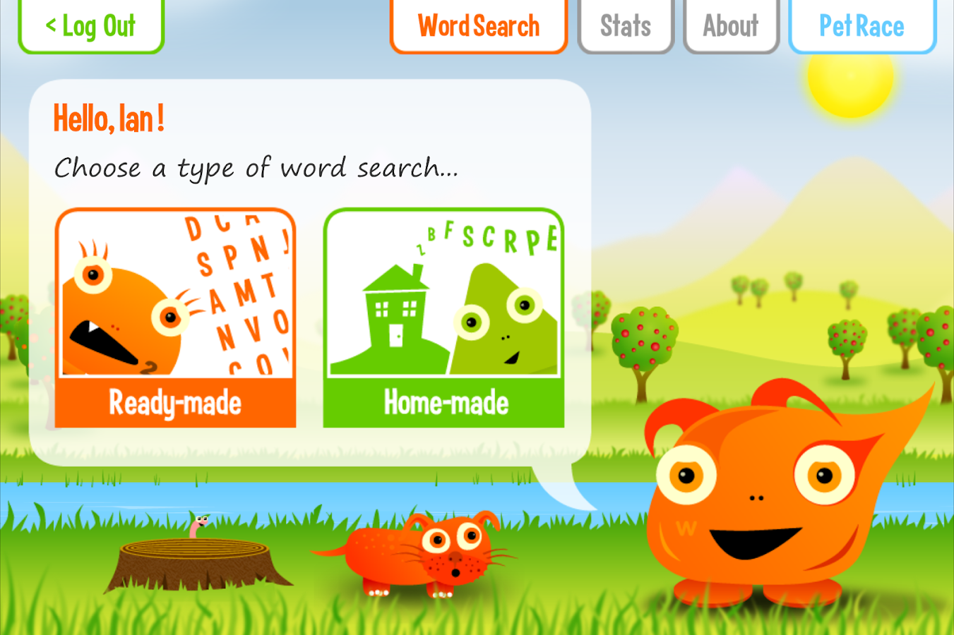 Squeebles Word Search- screenshot
