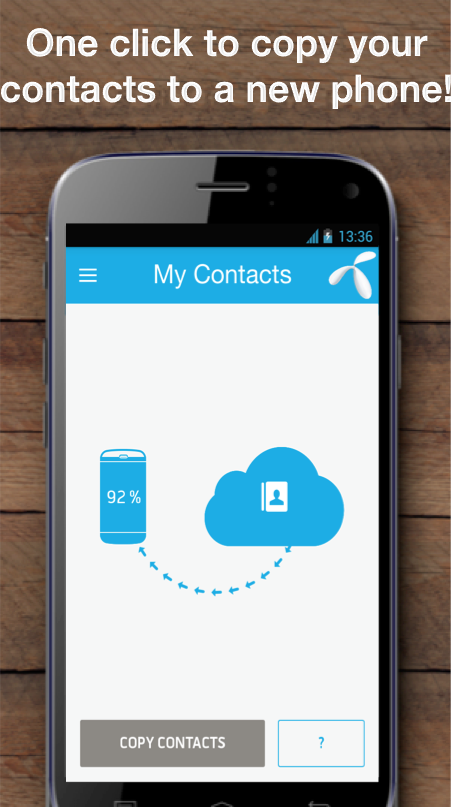My Contacts - Phonebook Backup & Transfer App- screenshot
