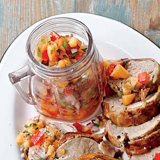 Cantaloupe-Red Pepper Salsa.