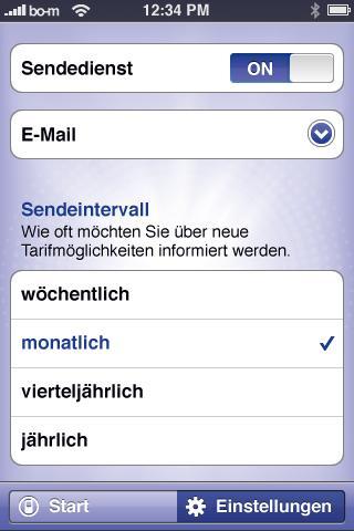 handytarife.de Tarifoptimierer - screenshot