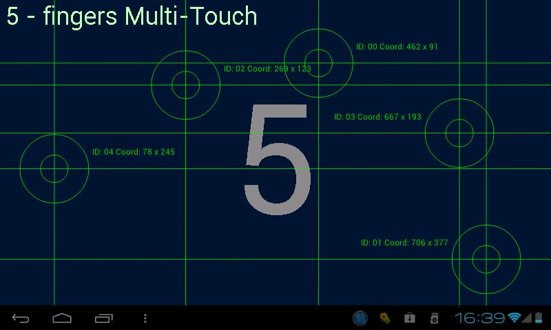 Multi-Touch test- screenshot