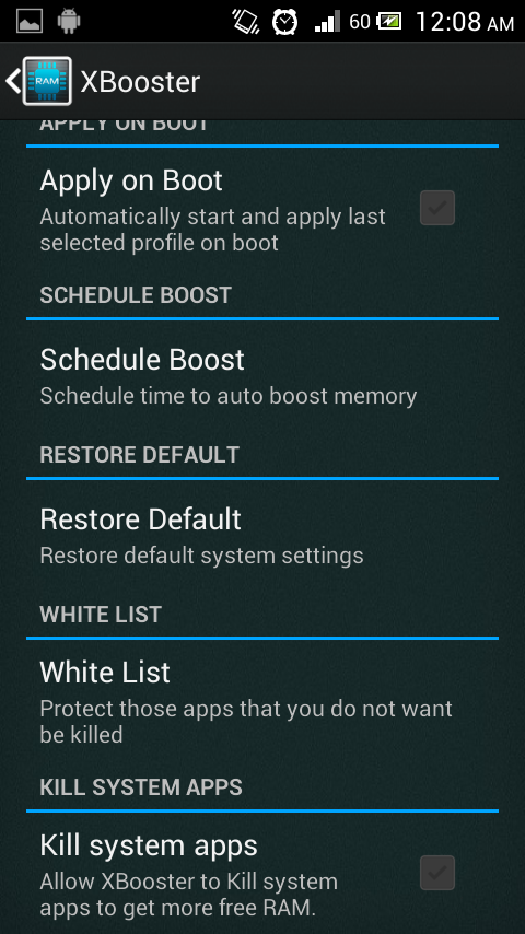 XBooster *ROOT* - Free- screenshot
