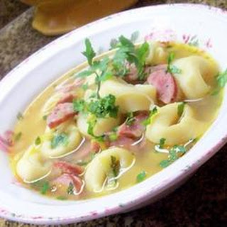 Mushroom, Leek, Chicken Sausage and Tortellini Soup