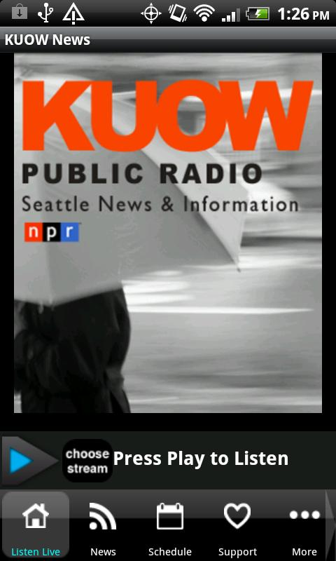 94.9 KUOW Public Radio Seattle - screenshot