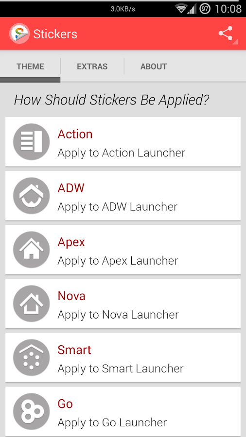 Stickers (Apex Go Nova) - screenshot