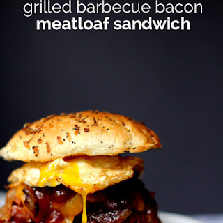 Grilled Barbecue Bacon Meatloaf Sandwich