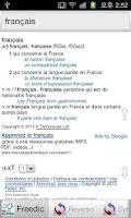 Screenshot of Dictionnaires Français