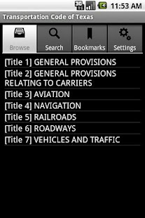 Texas Transportation Code - screenshot thumbnail