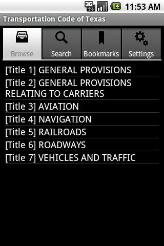 Texas Transportation Code - screenshot