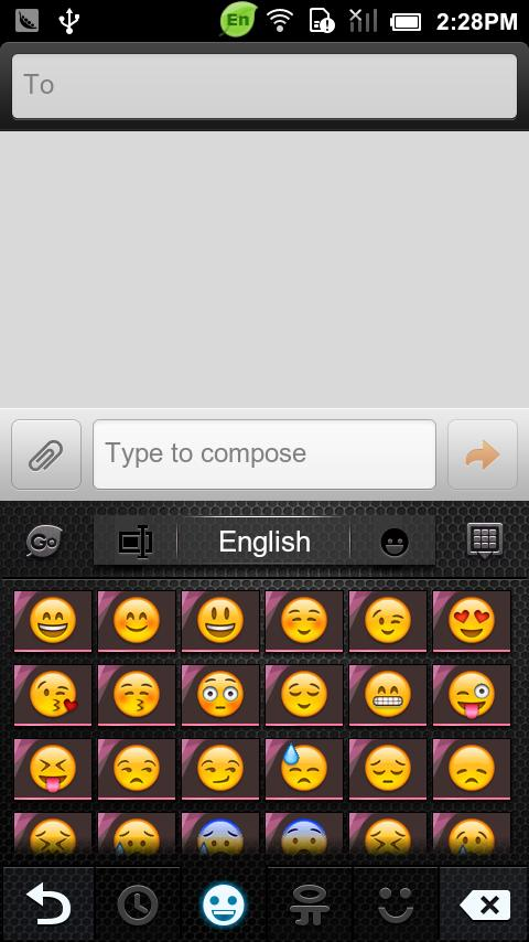 GO Keyboard Start off theme - screenshot