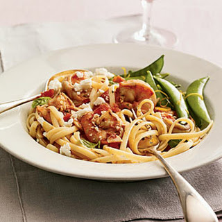 Greek-Style Shrimp Linguine