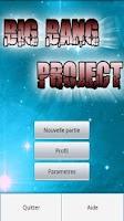Screenshot of Big bang project