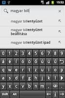Screenshot of Könnyű magyar billentyűzet