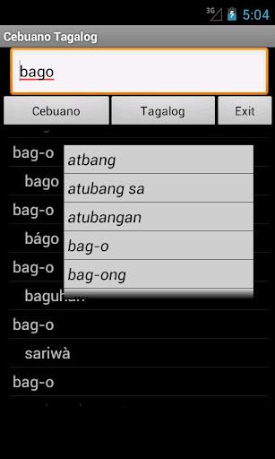 Cebuano Tagalog Dictionary