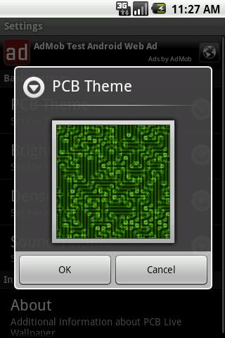 PCB Live Wallpaper - screenshot