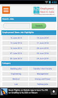 Screenshot of Employment News In India