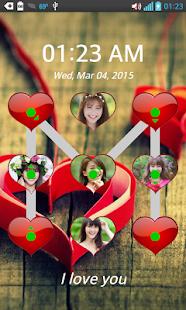 Láska Pattern Lock Screen - náhled