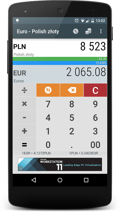 Euro to Polish Zloty EUR PLN - Android Apps on Google Play