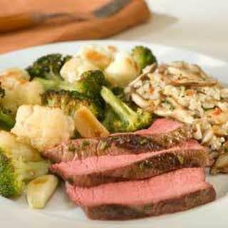 Rosemary Garlic Rubbed Steak.