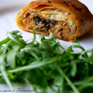 Alheira Sausage and Apple Strudel