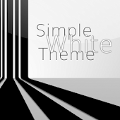 Go Launcher Simple White Theme