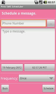 Pink SMS Scheduler screenshot 2