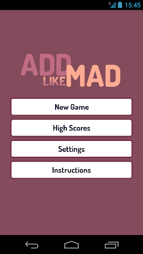 Add Like Mad - The Number Game