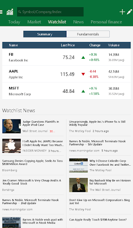 MSN Money- Stock Quotes & News 1.1.0 screenshot 18740