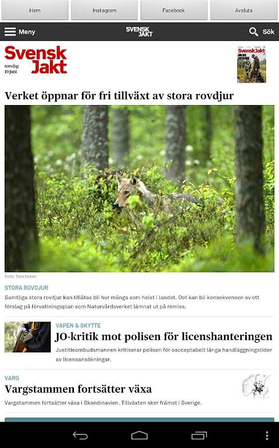 svensk jakt