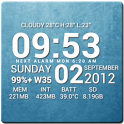 Super Typo Weather Info Clock icon