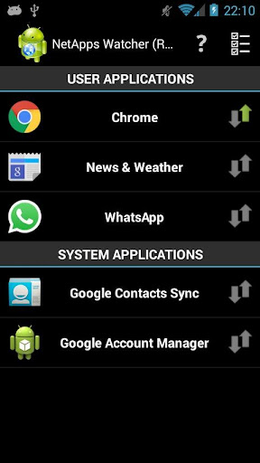 Network Apps Watcher