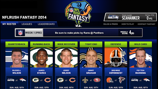 NFLRUSH Fantasy Football - screenshot thumbnail