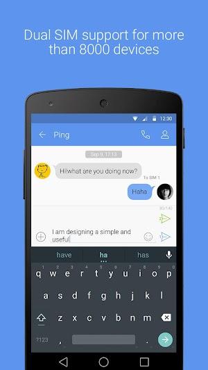 6 GO SMS Pro App screenshot