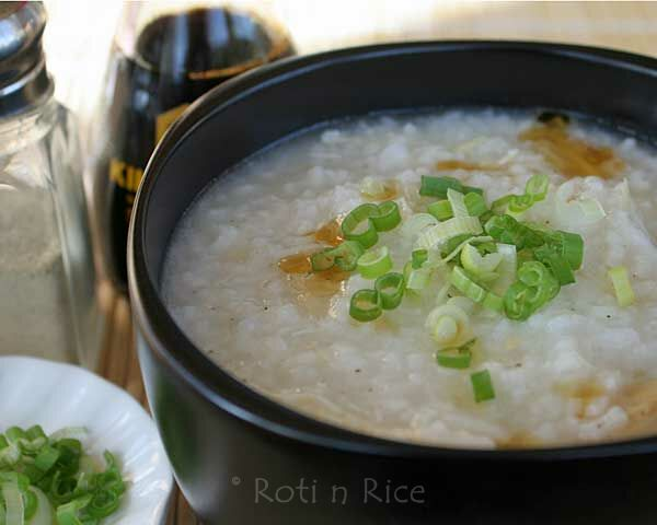 Chicken Rice Porridge or Congee