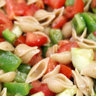 Simple Greek Vinaigrette Pasta Salad.