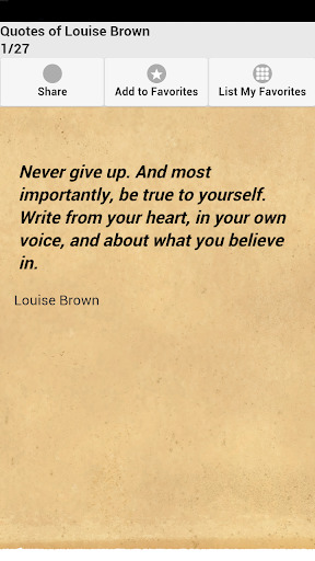 Quotes of Louise Brown