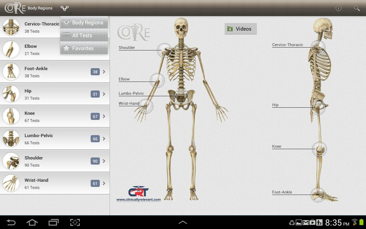 CORE-Clinical Orthopaedic Exam- screenshot